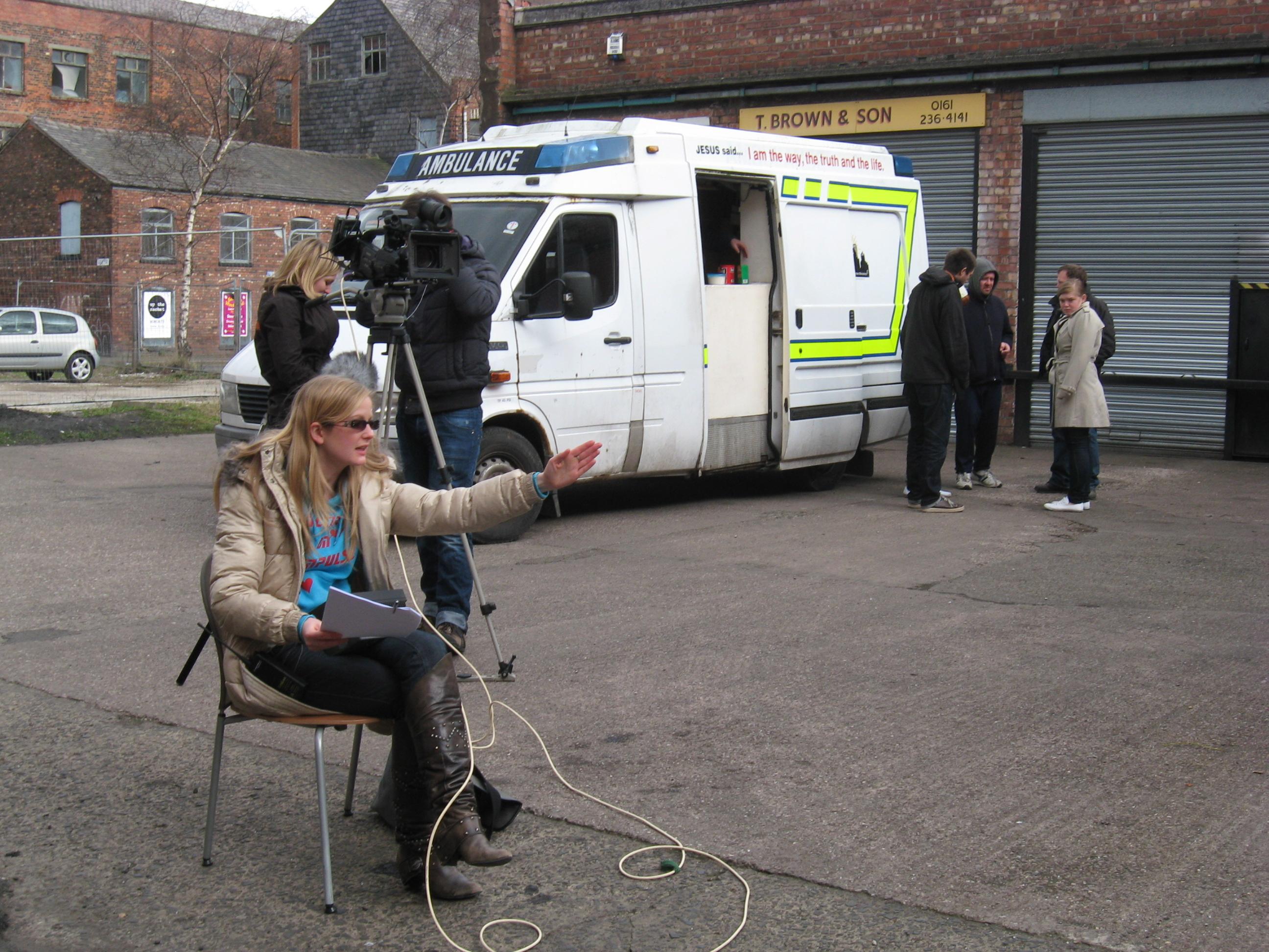 Lauren directing scenes at the soup van - IMG_24312