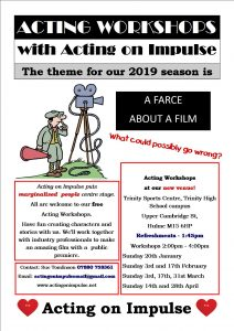 Acting on Impulse Spring Workshop Flyer