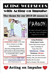 Acting on Impulse Autumn 2019 Workshop Flyer