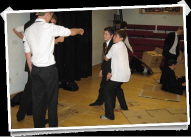 School children taking part in an Acting on Impulse workshop